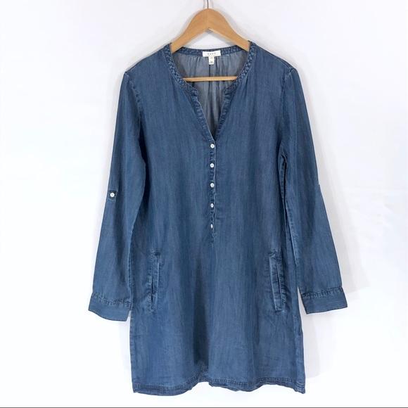 Soft Joie Dresses & Skirts - Soft Joie Blue Denim Tunic Shirt Dress